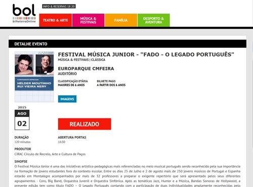 Bilheteira Online