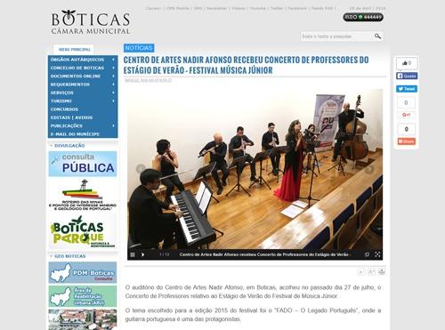 Website Município de Boticas