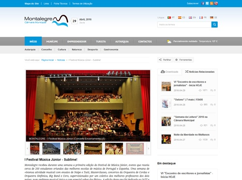 Website Município de Montalegre