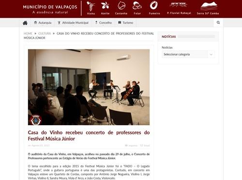 Website Município de Valpaços